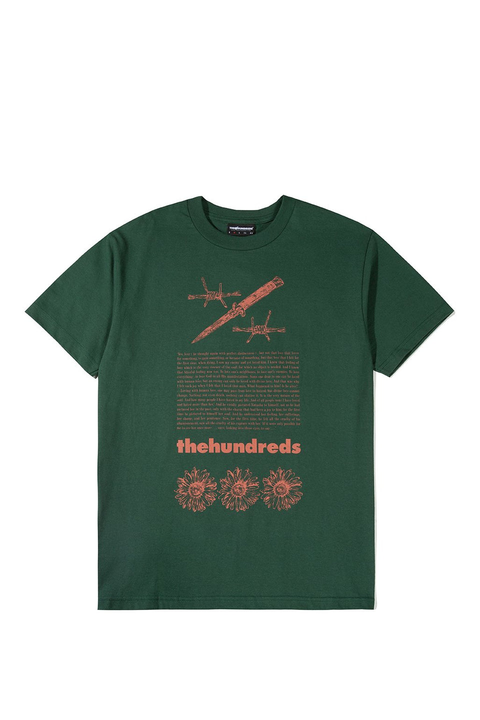 The Hundreds Poison T-Shirt TOPS Forest Green
