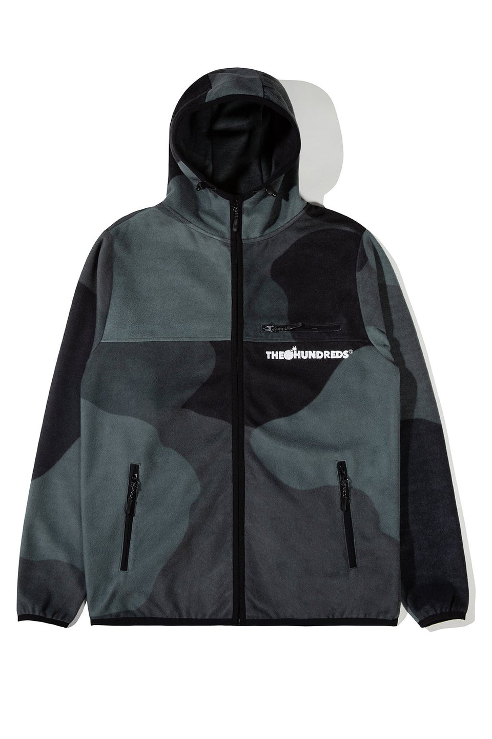 The Hundreds Hideaway Zip-Up Hoodie TOPS Black