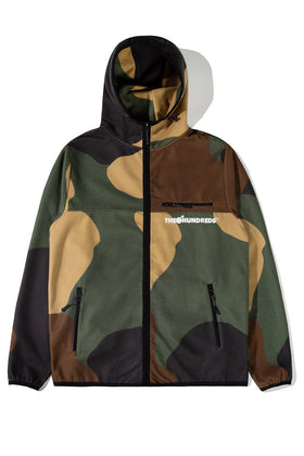 The Hundreds Hideaway Zip-Up Hoodie TOPS Camo
