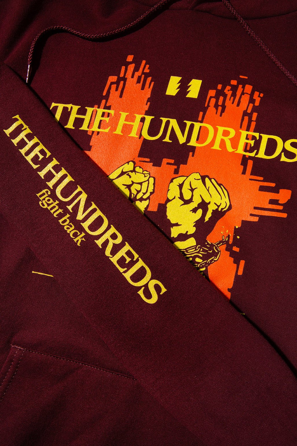 The Hundreds Break Pullover Hoodie TOPS Maroon