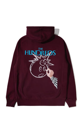 The Hundreds Dust Pullover Hoodie TOPS Burgundy