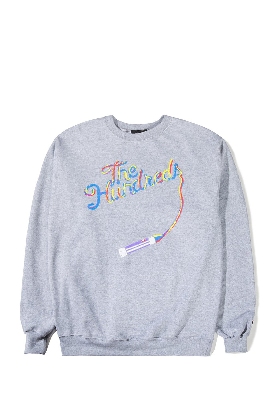 The Hundreds Streak Crewneck TOPS Athletic Heather
