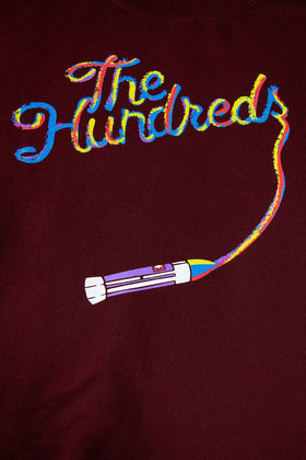 The Hundreds Streak Crewneck TOPS Maroon