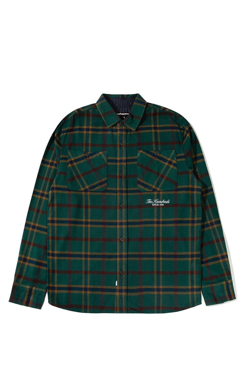 The Hundreds Hill Button-Up TOPS Hunter Green