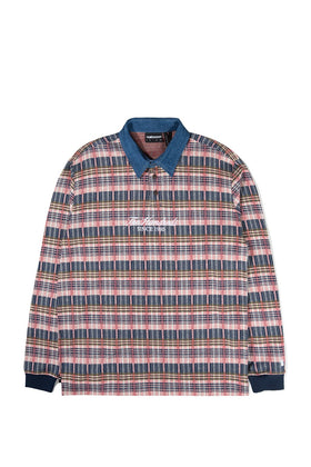 The Hundreds Gleason L/S Polo TOPS Off White
