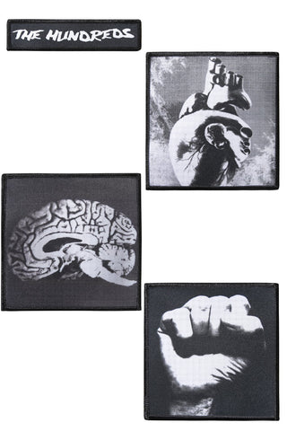 Brain Heart Fist Patches