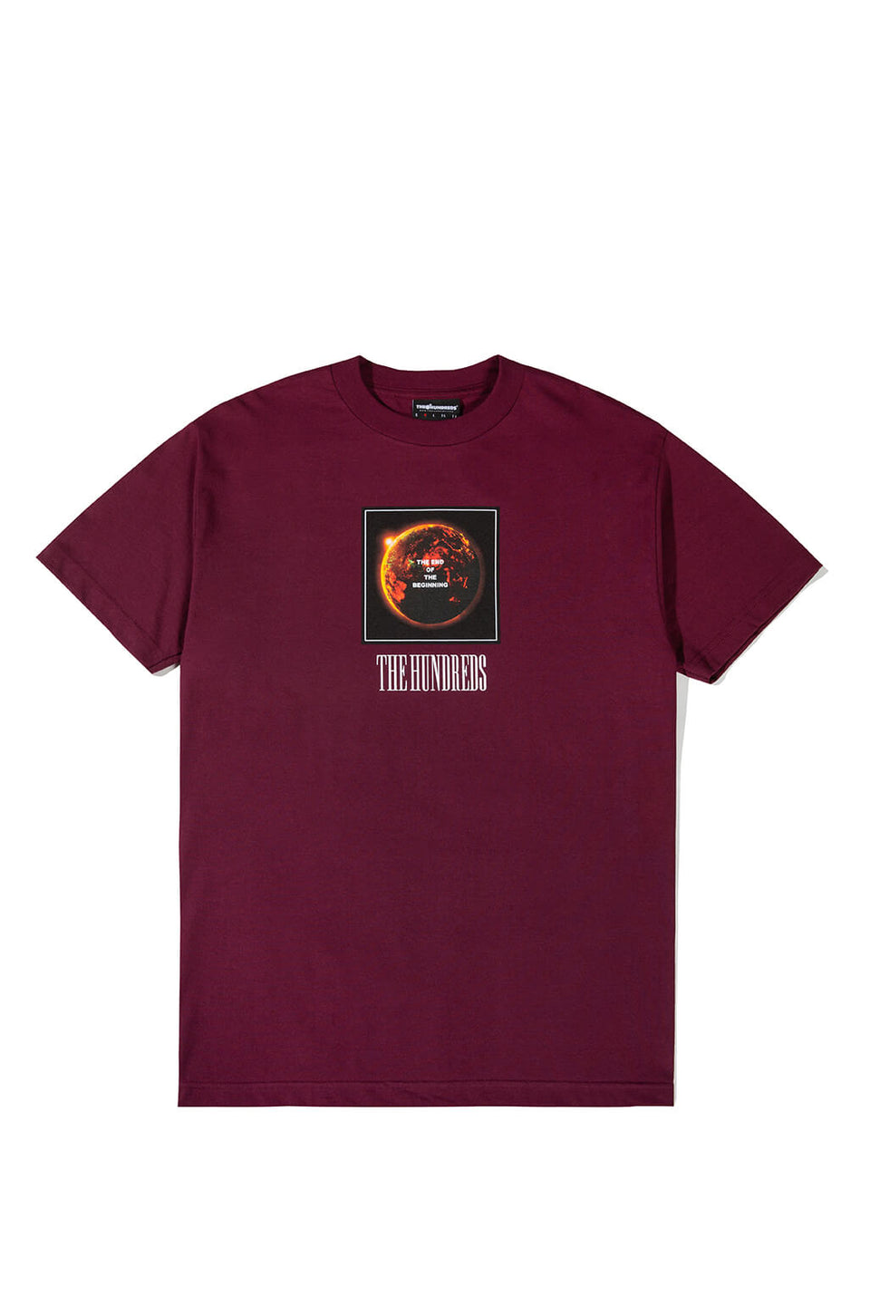 The Hundreds End T-Shirt Burgundy