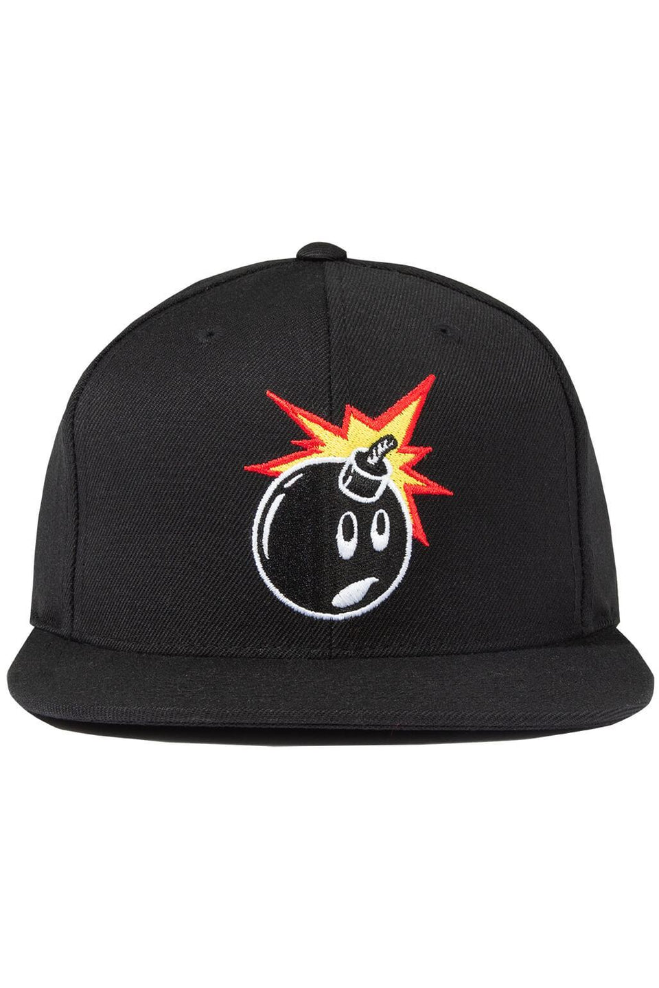 The Hundreds Forever Adam Black Snapback Cap Front