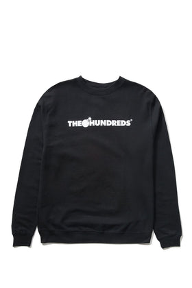 The Hundreds Forever Bar Crewneck Sweatshirt Black Front