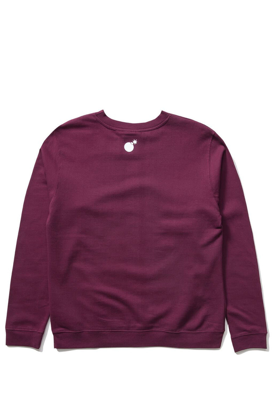 The Hundreds Forever Bar Crewneck Sweatshirt Burgundy Back