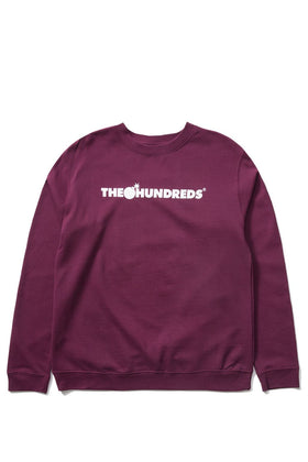 The Hundreds Forever Bar Crewneck Sweatshirt Burgundy Front