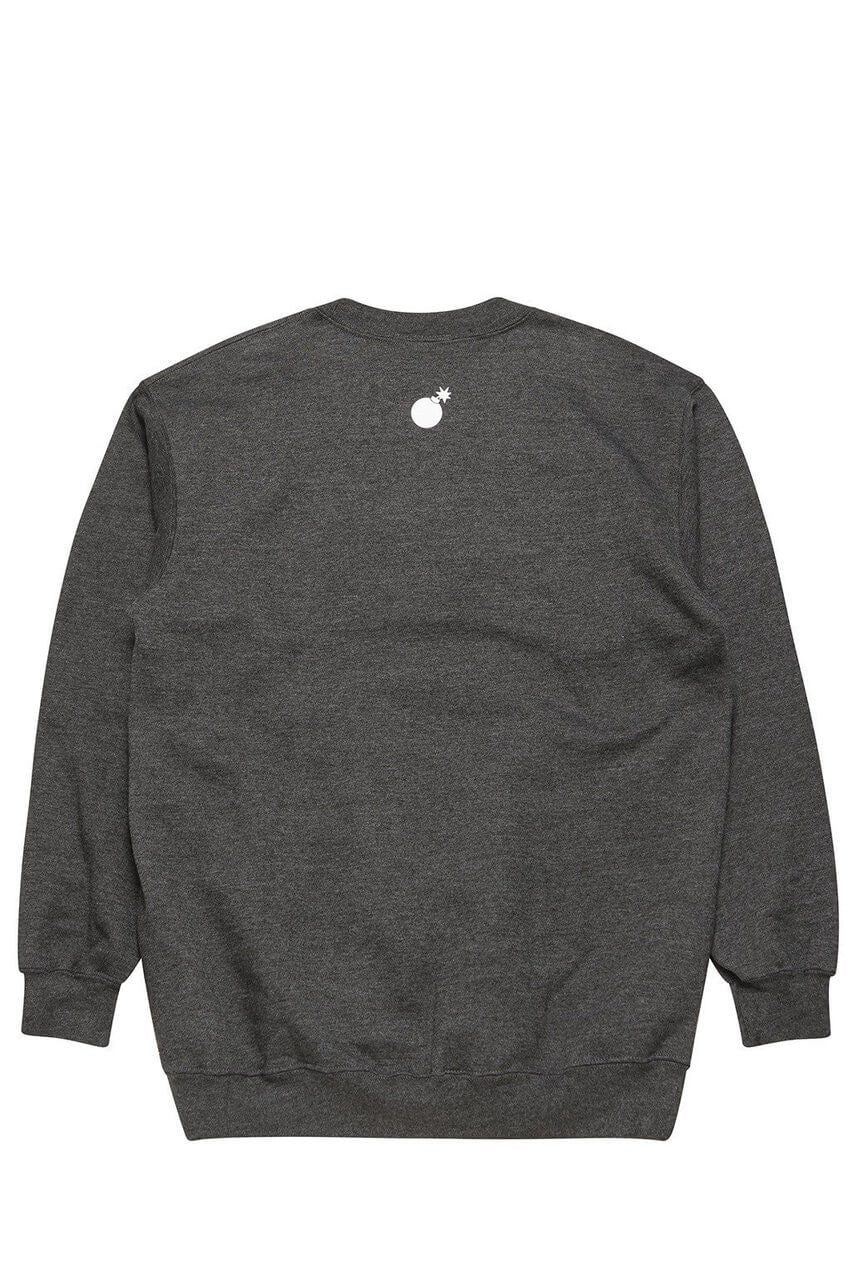 The Hundreds Forever Bar Crewneck Sweatshirt Charcoal Heather Back