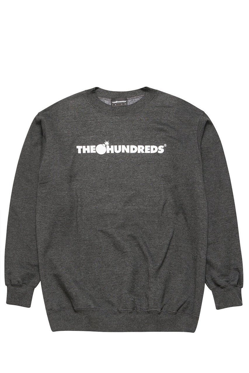 The Hundreds Forever Bar Crewneck Sweatshirt Charcoal Heather Front