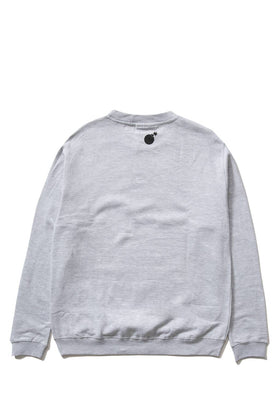 The Hundreds Forever Bar Crewneck Sweatshirt Athletic Heather Back