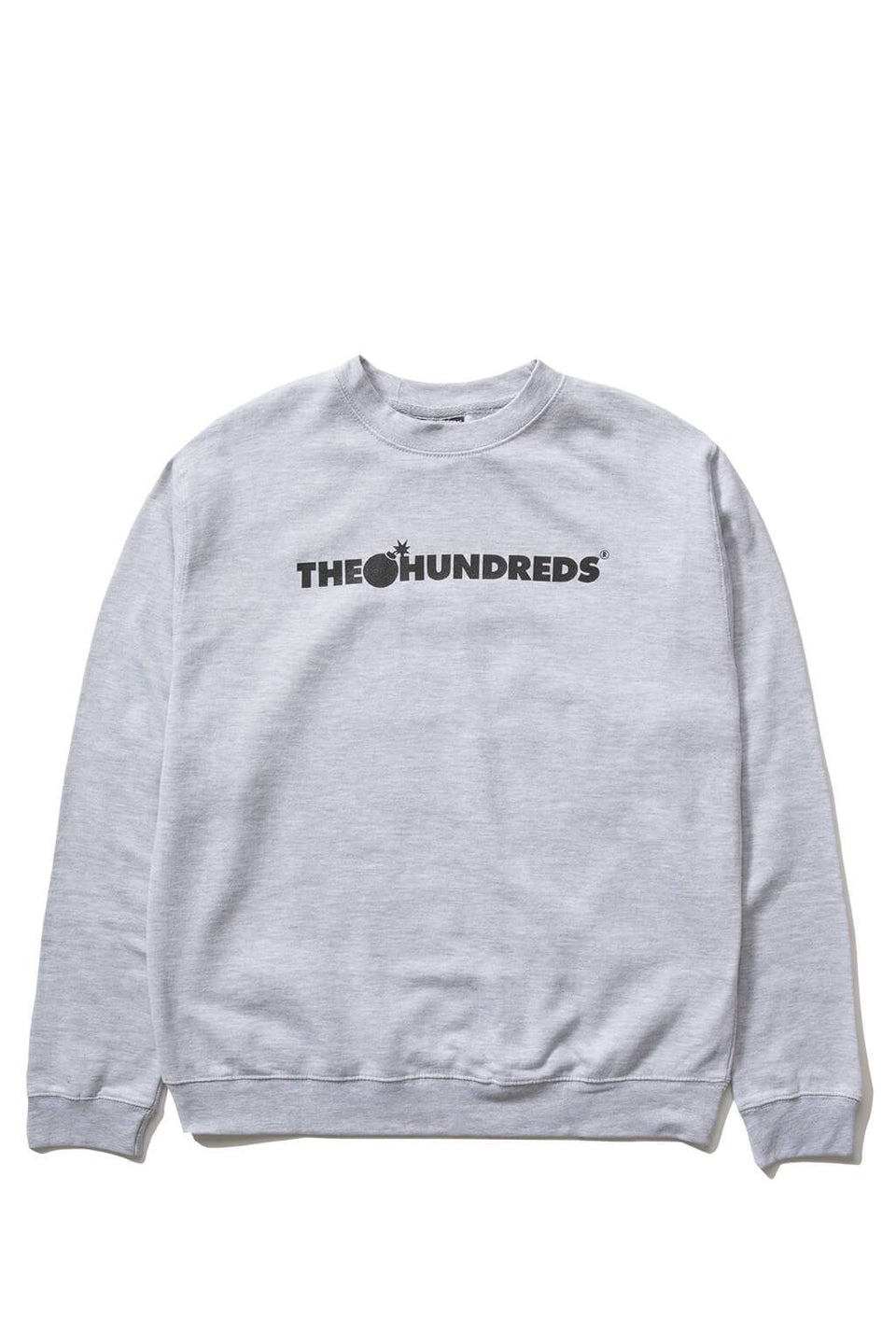 The Hundreds Forever Bar Crewneck Sweatshirt Athletic Heather Front