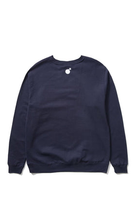 The Hundreds Forever Bar Crewneck Sweatshirt Navy Back