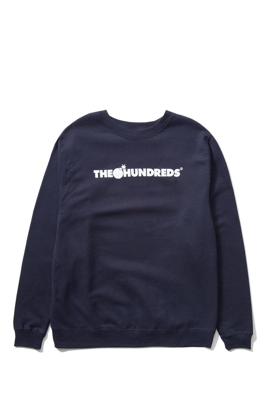The Hundreds Forever Bar Crewneck Sweatshirt Navy Front
