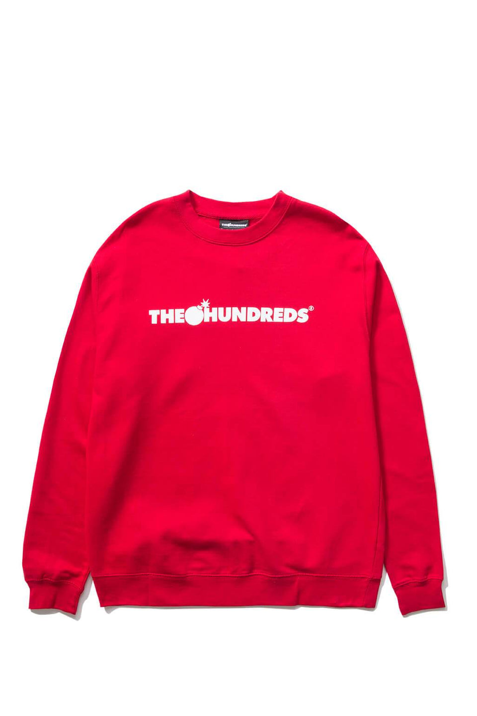 The Hundreds Forever Bar Crewneck Sweatshirt Red Front