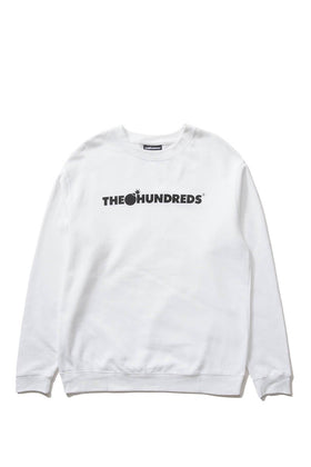 The Hundreds Forever Bar Crewneck Sweatshirt White Front
