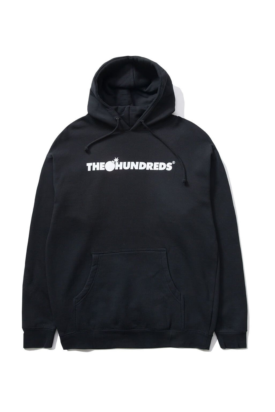The Hundreds Forever Bar Pullover Hoodie Black Front
