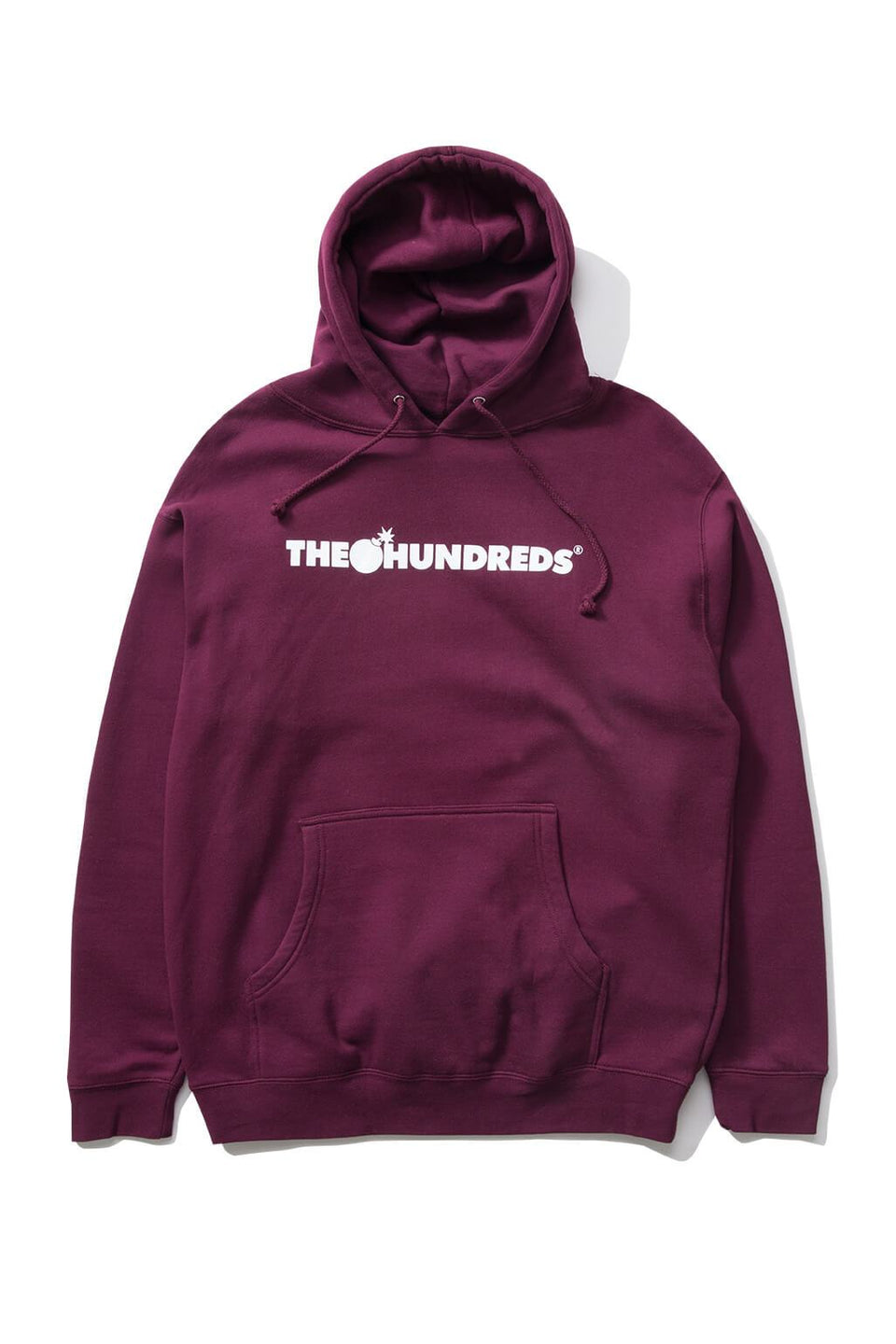 The Hundreds Forever Bar Pullover Hoodie Burgundy Front