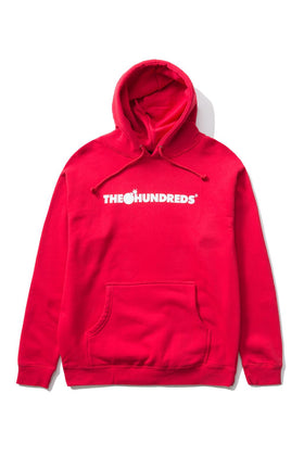 The Hundreds Forever Bar Pullover Hoodie Red Front