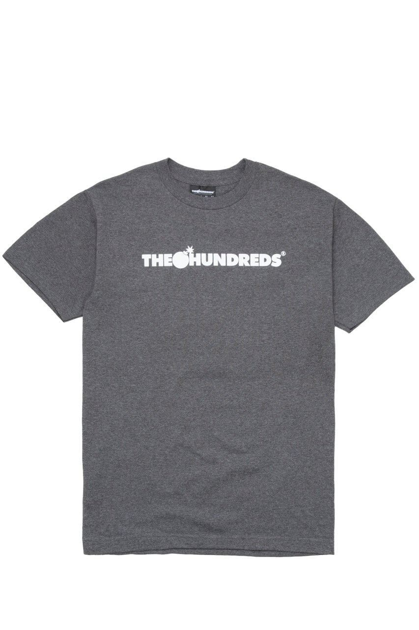 The Hundreds Forever Bar T-Shirt Forest Charcoal Heather Front