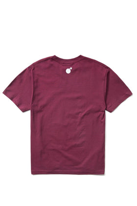 The Hundreds Forever Bar T-Shirt Burgundy Back