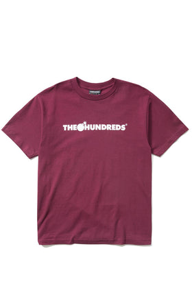 The Hundreds Forever Bar T-Shirt Burgundy Front