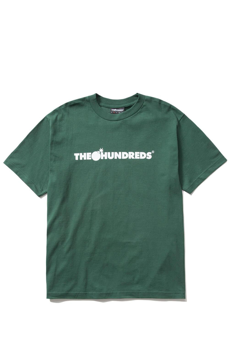 The Hundreds Forever Bar T-Shirt Forest Green Front