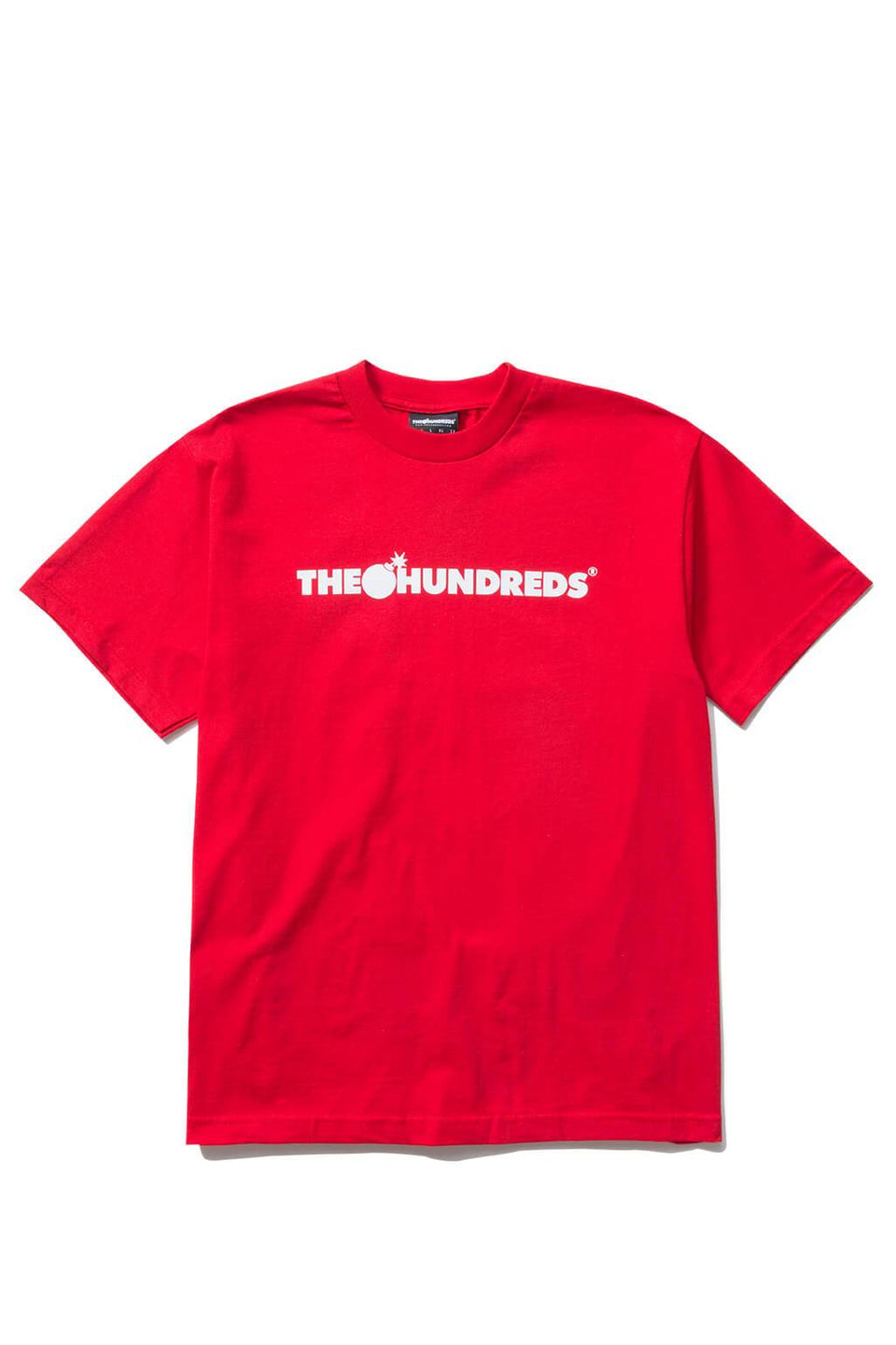 The Hundreds Forever Bar T-Shirt Red Front