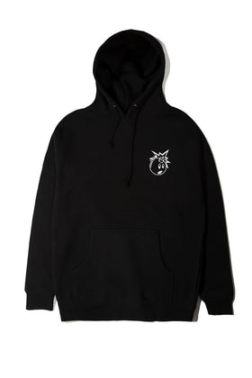 The Hundreds Forever Simple Adam Pullover Hoodie Black Front