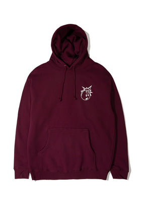 The Hundreds Forever Simple Adam Pullover Hoodie Burgundy Front