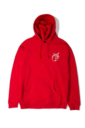 The Hundreds Forever Simple Adam Pullover Hoodie Red Front
