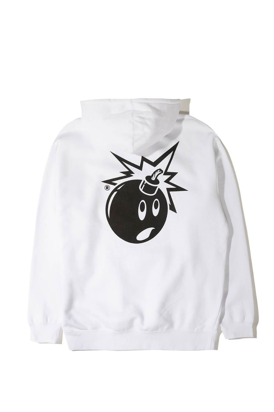 The Hundreds Forever Simple Adam Pullover Hoodie White Back