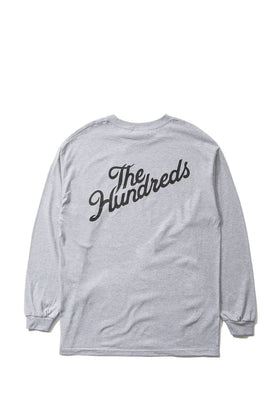 The Hundreds Forever Slant Crest Longsleeve Shirt Athletic Heather Back