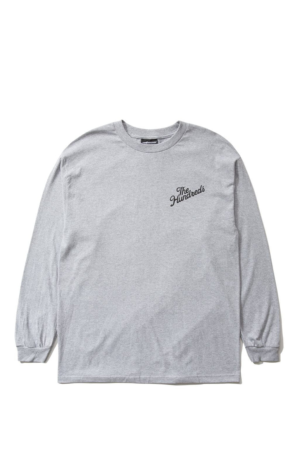 The Hundreds Forever Slant Crest Longsleeve Shirt Athletic Heather Front