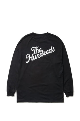 The Hundreds Forever Slant Crest Longsleeve Shirt Black Back