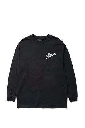 The Hundreds Forever Slant Crest Longsleeve Shirt Black Front