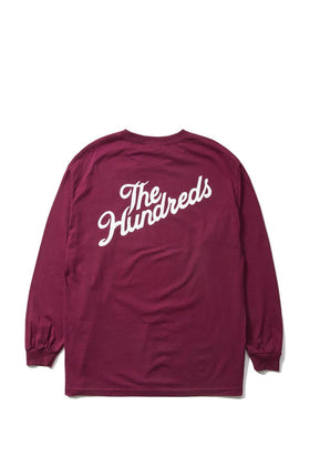 The Hundreds Forever Slant Crest Longsleeve Shirt Burgundy Back