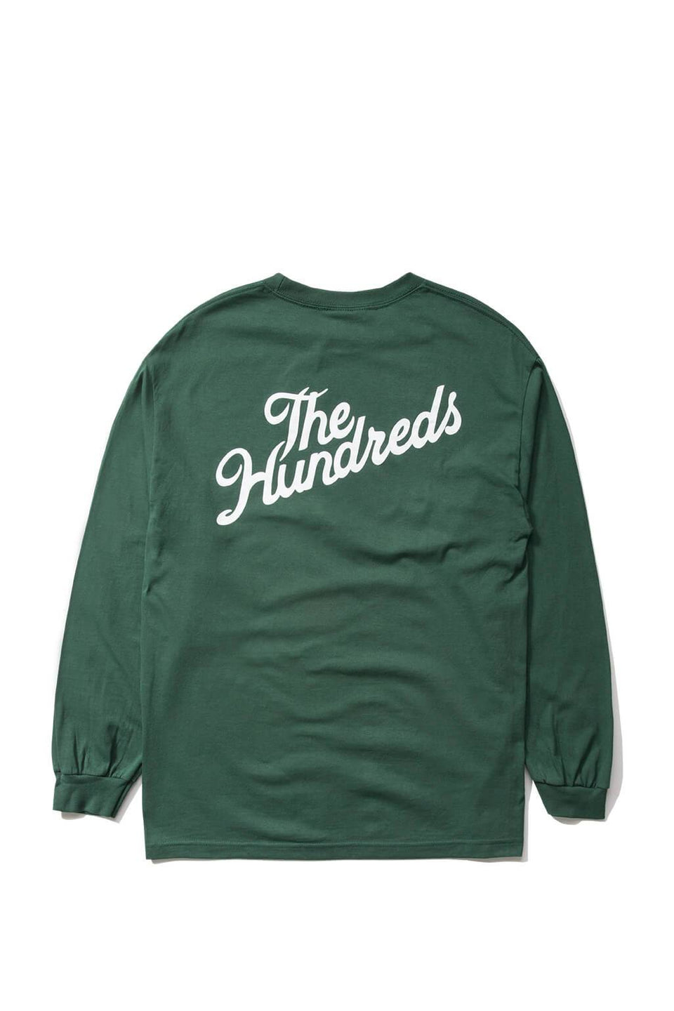 The Hundreds Forever Slant Crest Longsleeve Shirt Forest Green Back
