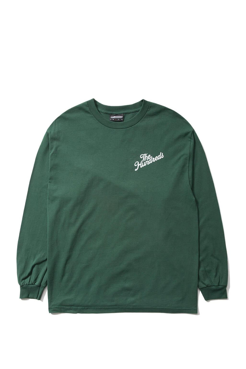 The Hundreds Forever Slant Crest Longsleeve Shirt Forest Green Front