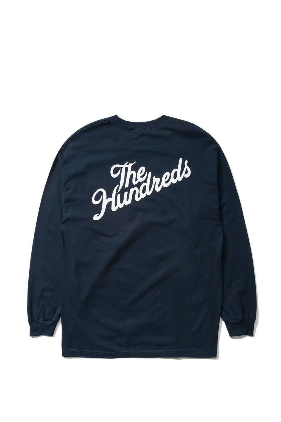 The Hundreds Forever Slant Crest Longsleeve Shirt Navy Back