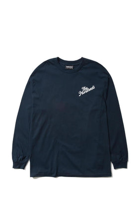 The Hundreds Forever Slant Crest Longsleeve Shirt Navy Front