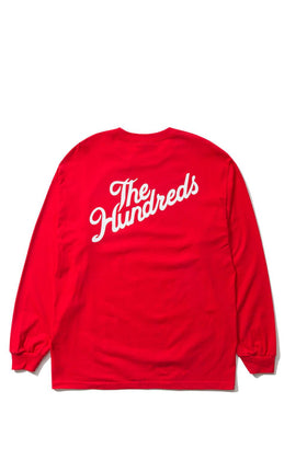 The Hundreds Forever Slant Crest Longsleeve Shirt Red Back