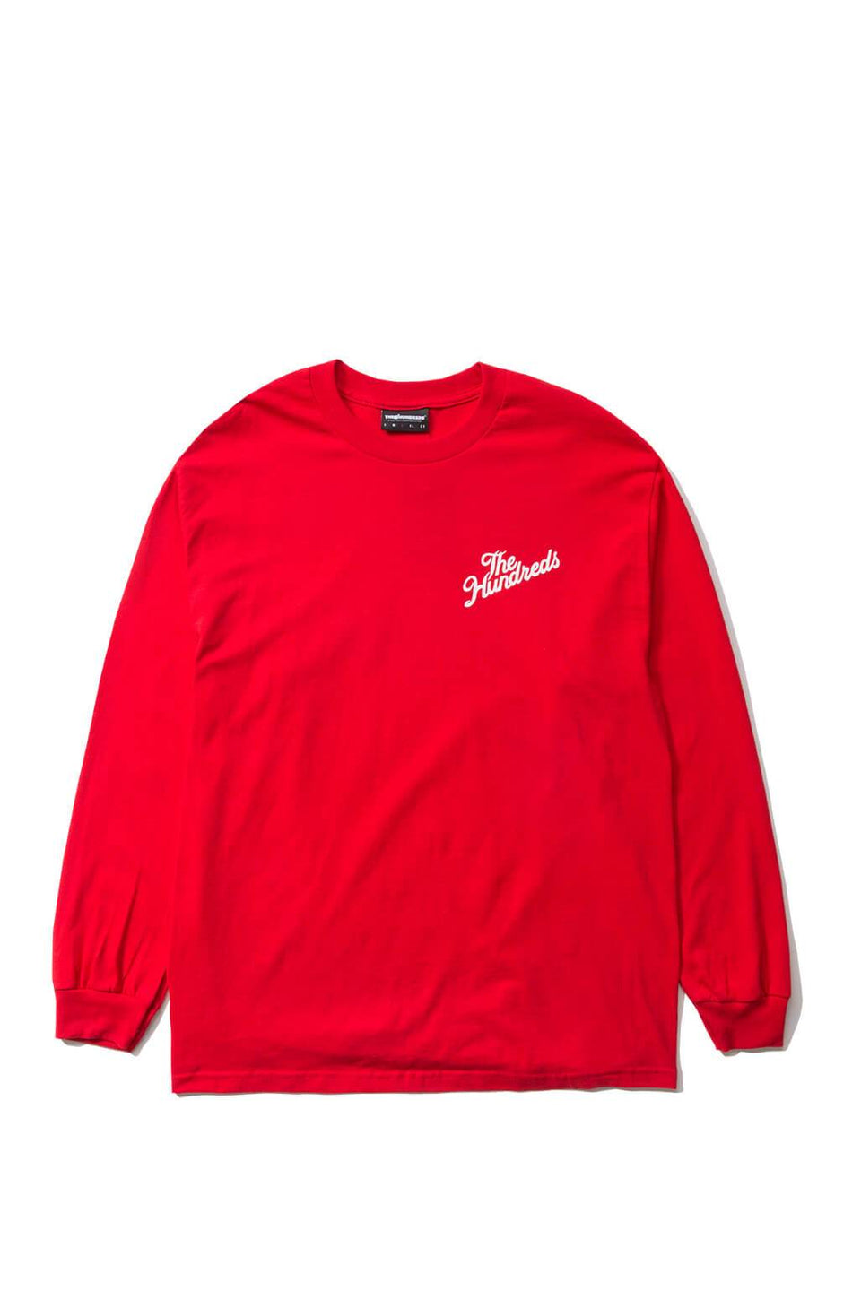 The Hundreds Forever Slant Crest Longsleeve Shirt Red Front
