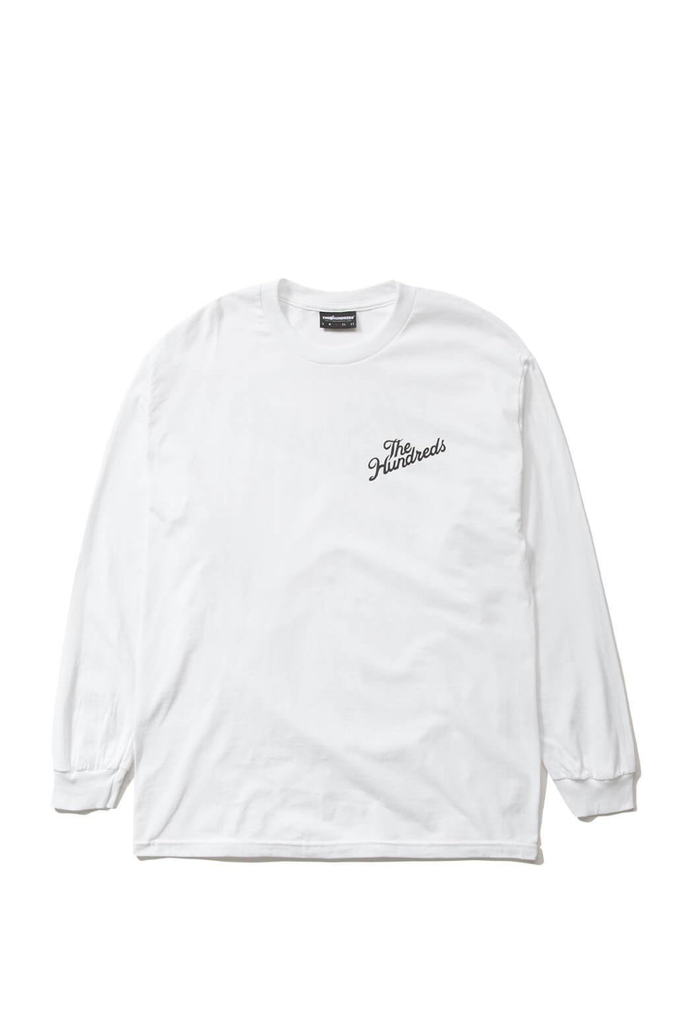 The Hundreds Forever Slant Crest Longsleeve Shirt White Front
