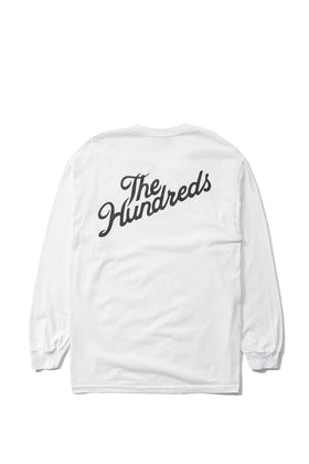 The Hundreds Forever Slant Crest Longsleeve Shirt White Back