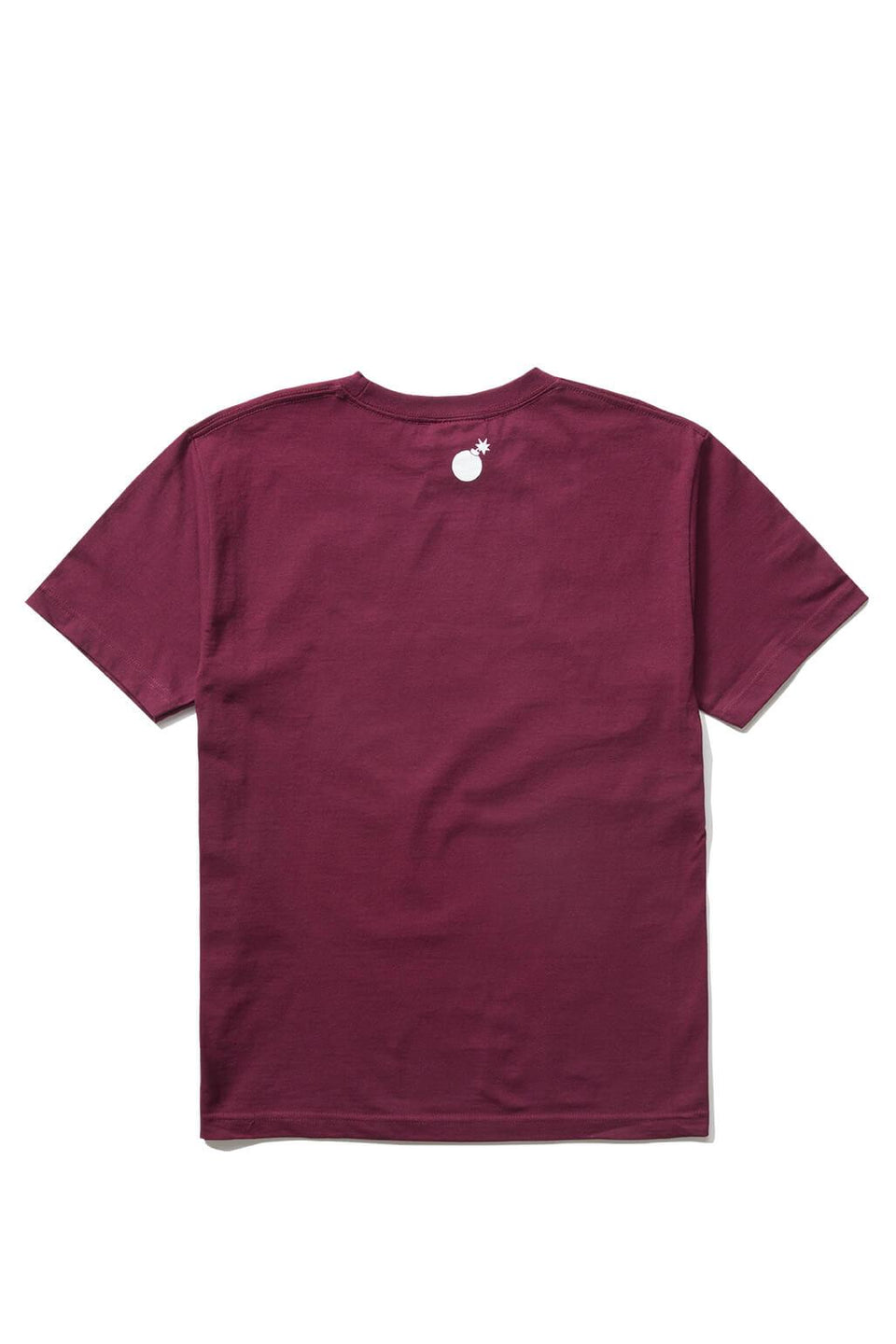 Forever Slant T-Shirt Burgundy Back