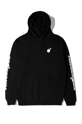 Forever Solid Bomb Crest Pullover Hoodie Black Front